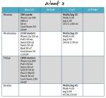 TRI training, week 3 –done